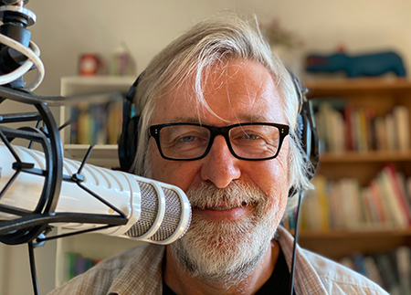 Photo: Don Schaffner podcasting