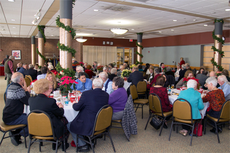 Photo: visitors of the retired faculty luncheon 2017